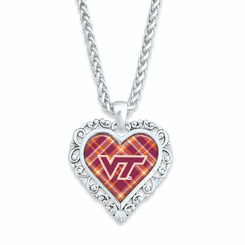 Virginia Tech Hokies Necklace- Plaid