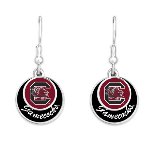 South Carolina Gamecocks Earrings- Stacked Disk