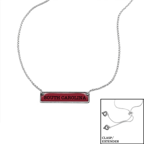 South Carolina Gamecocks Slider Bead Adjustable Necklace- Nameplate