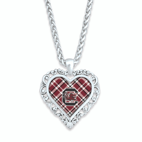 South Carolina Gamecocks Necklace- Plaid