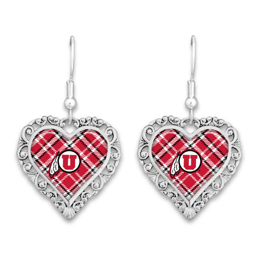 Utah Utes Earrings- Plaid