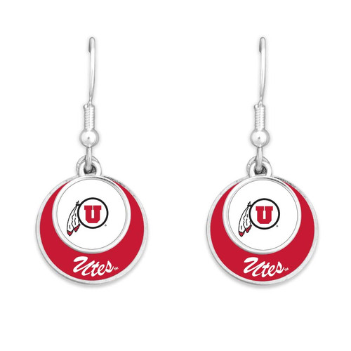 Utah Utes Earrings- Stacked Disk