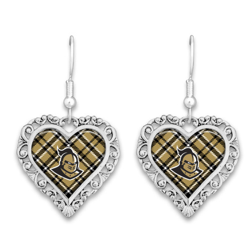 Central Florida Knights Earrings- Plaid