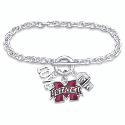 Mississippi State Bulldogs Slam Dunk Bracelet