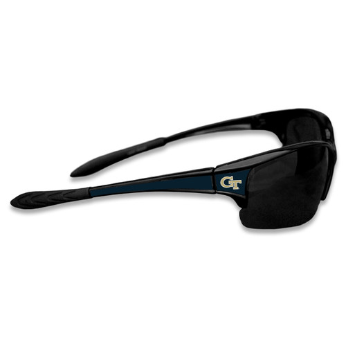 Georgia Tech Yellow Jackets Sports Rimless College Sunglasses (Black)