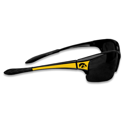 Iowa Hawkeyes Sports Rimless College Sunglasses (Black)