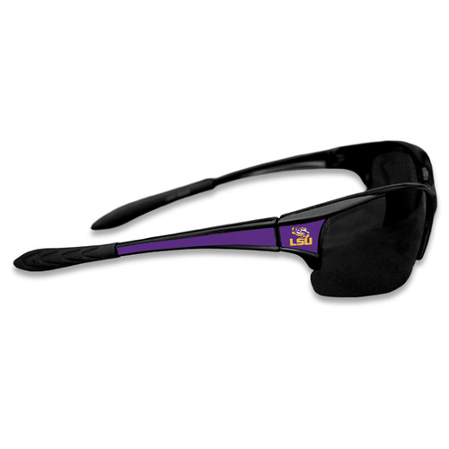 LSU Tigers Sports Rimless College Sunglasses (Black)