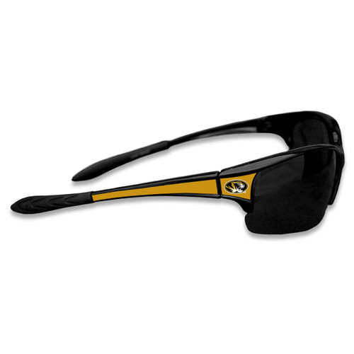 Missouri Tigers Sports Rimless College Sunglasses (Black)
