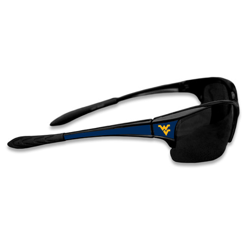 West Virginia Mountaineers Sports Rimless College Sunglasses (Black)