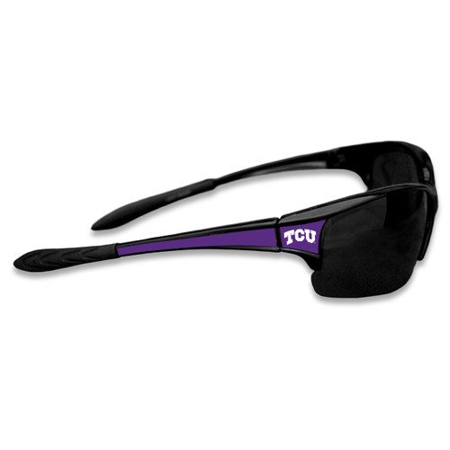 TCU Horned Frogs Sports Rimless College Sunglasses (Black)