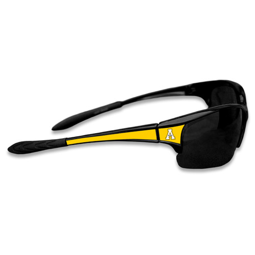 Appalachian State Mountaineers Sports Rimless College Sunglasses (Black)