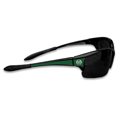 Colorado State Rams Sports Rimless College Sunglasses (Black)