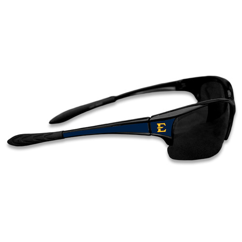 East Tennessee State Buccaneers Sports Rimless College Sunglasses (Black)
