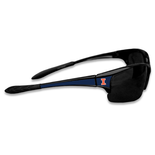 Illinois Fighting Illini Sports Rimless College Sunglasses (Black)