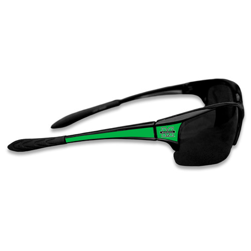 Marshall Thundering Herd Sports Rimless College Sunglasses (Black)