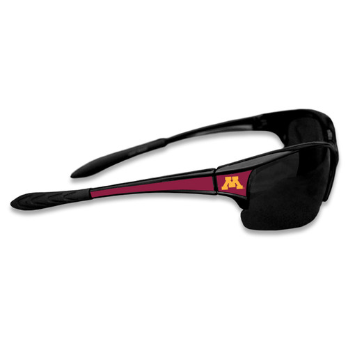 Minnesota Golden Gophers Sports Rimless College Sunglasses (Black)