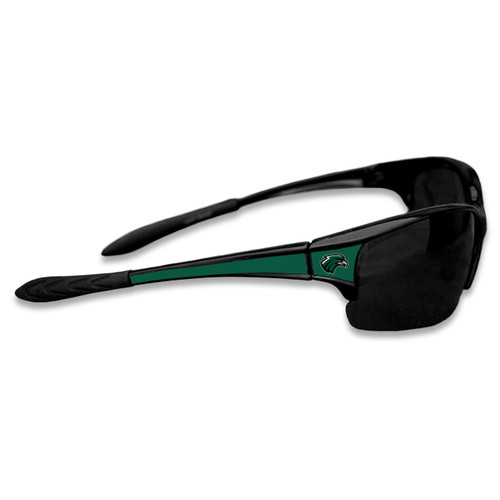 Northeastern State Riverhawks Sports Rimless College Sunglasses (Black)
