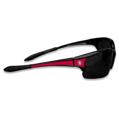 South Dakota Coyotes Sports Rimless College Sunglasses (Black)