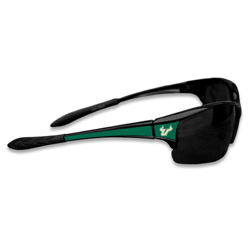South Florida Bulls Sports Rimless College Sunglasses (Black)