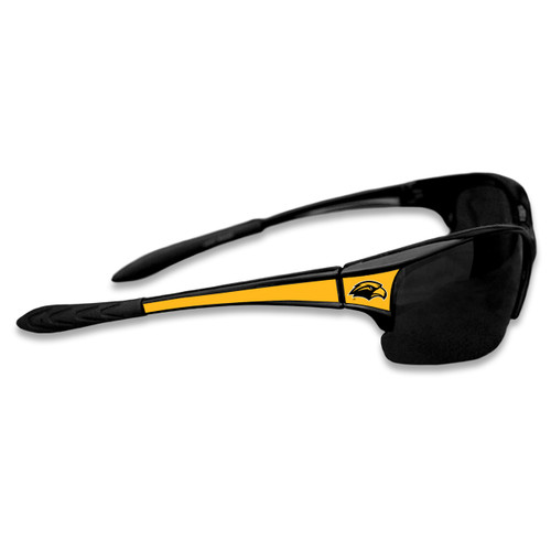Southern Miss Golden Eagles Sports Rimless College Sunglasses (Black)