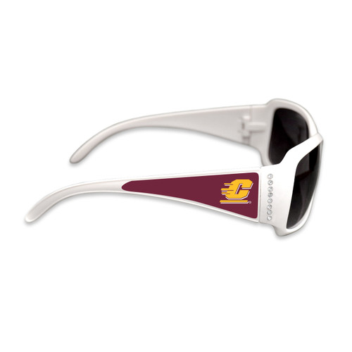 Central Michigan Chippewas Fashion Brunch College Sunglasses (White)