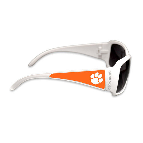 Clemson Tigers Fashion Brunch College Sunglasses (White)