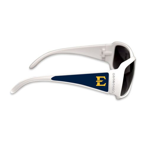 East Tennessee State Buccaneers Fashion Brunch College Sunglasses (White)