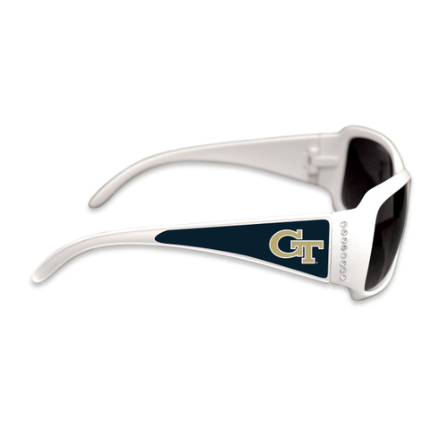 Georgia Tech Yellow Jackets Fashion Brunch College Sunglasses (White)