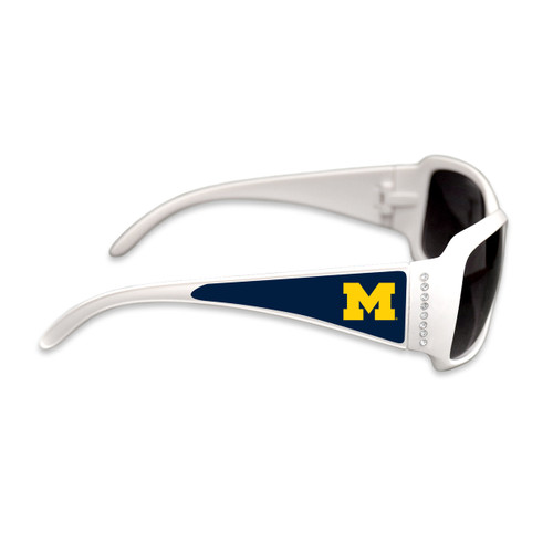Michigan Wolverines Fashion Brunch College Sunglasses (White)
