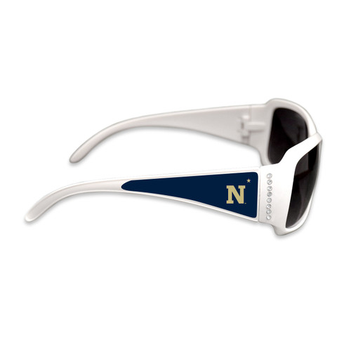 Naval Academy Midshipmen Fashion Brunch College Sunglasses (White)