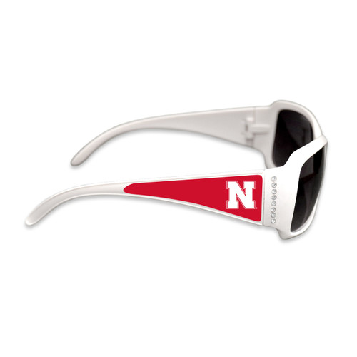 Nebraska Cornhuskers Fashion Brunch College Sunglasses (White)