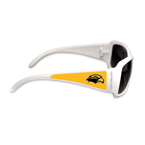Southern Miss Golden Eagles Fashion Brunch College Sunglasses (White)
