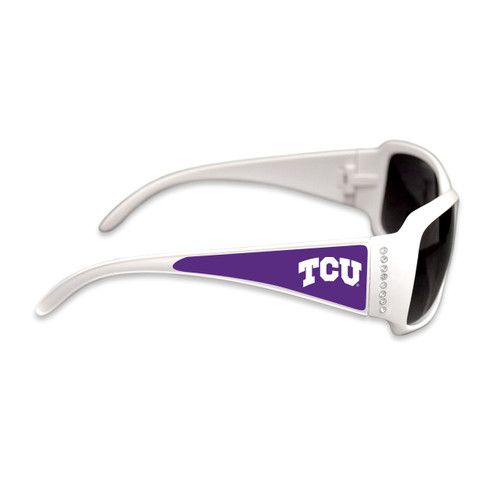 TCU Horned Frogs Fashion Brunch College Sunglasses (White)