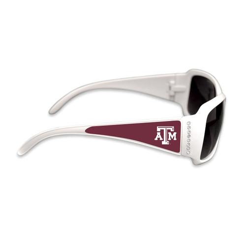 Texas A&M Aggies Fashion Brunch College Sunglasses (White)