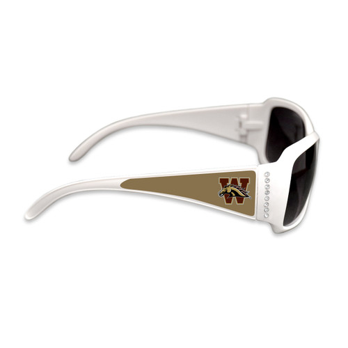 Western MIchigan Broncos Fashion Brunch College Sunglasses (White)