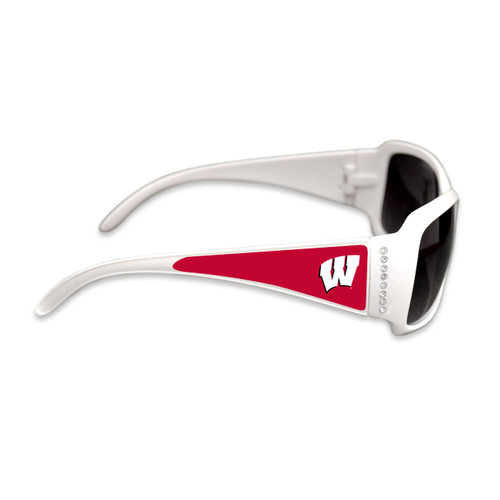 Wisconsin Badgers Fashion Brunch College Sunglasses (White)