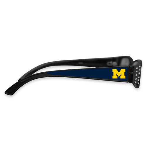 Michigan Wolverines Women's Crystal College Reading Glasses