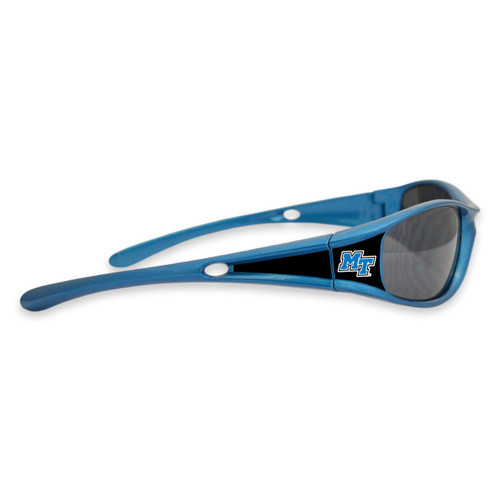Middle Tennessee State Raiders Sports Rimmed College Sunglasses (Blue)