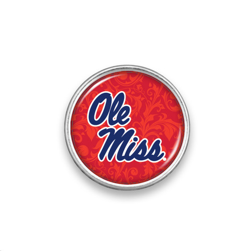 Snaps- College Logo Floral Background Snap Button