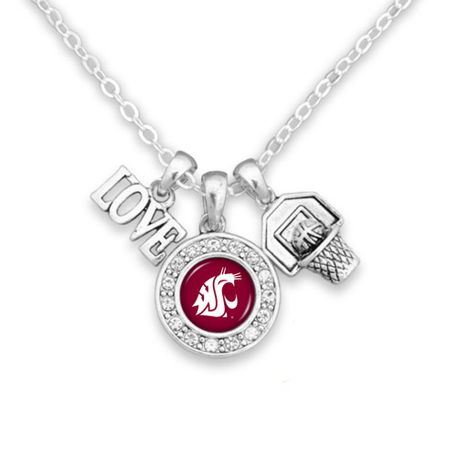 Basketball, Love, and Logo Charm College Necklace