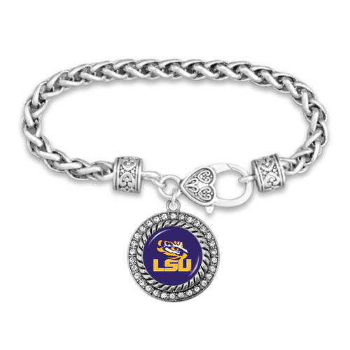 LSU Tigers Allie Bracelet