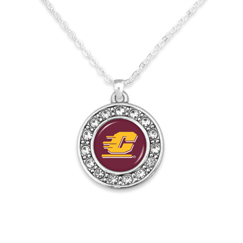 Central Michigan Chippewas Abby Girl Necklace