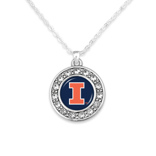 Illinois Illinis Abby Girl Necklace