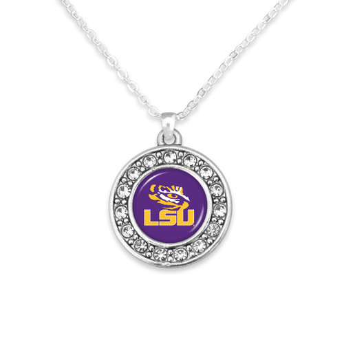 LSU Tigers Abby Girl Necklace