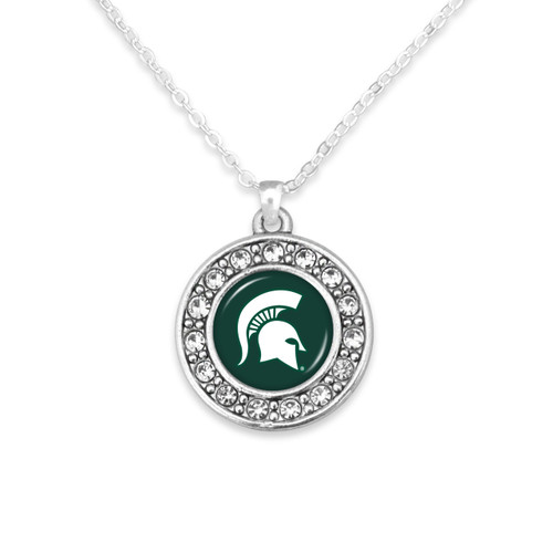Michigan State Spartans Abby Girl Necklace