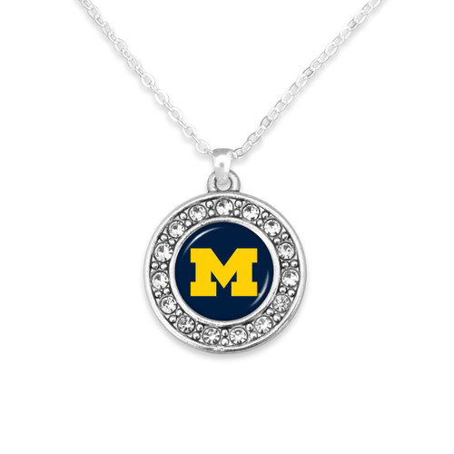 Michigan Wolverines Abby Girl Necklace