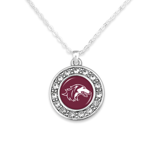 Southern Illinois Salukis Abby Girl Necklace