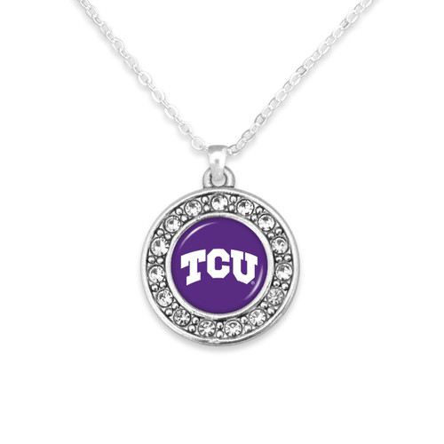 TCU Horned Frogs Abby Girl Necklace