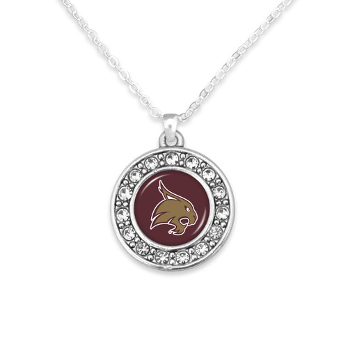 Texas State Bobcats Abby Girl Necklace