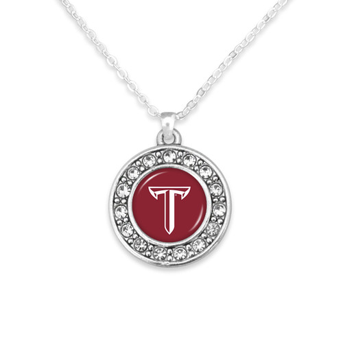 Troy Trojans Abby Girl Necklace